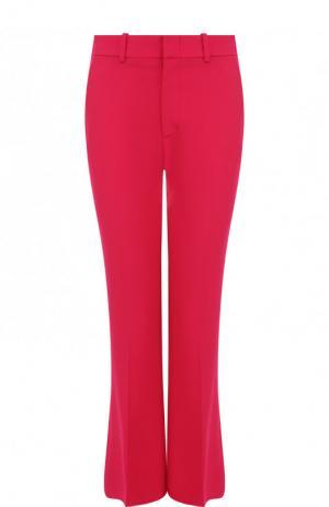 Укороченные однотонные брюки со стрелками Gucci. Цвет: фуксия