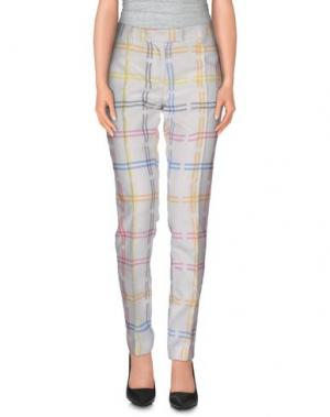 Повседневные брюки PICCIONE•PICCIONE. Цвет: белый