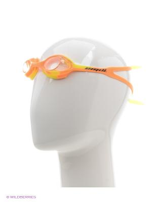 Очки для плавания EMDI. Цвет: оранжевый