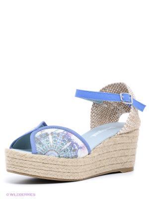 Босоножки Desigual. Цвет: голубой, белый