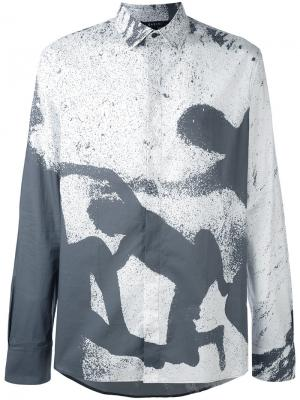 Рубашка Minot Qasimi. Цвет: серый