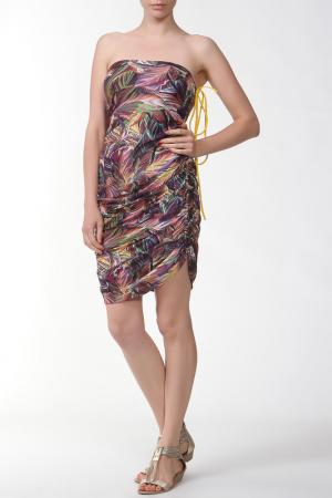 Платье Nicole Olivier. Цвет: мультицвет