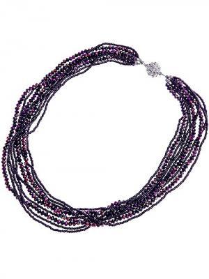 Бусы City Flash. Цвет: фиолетовый, белый, серебристый