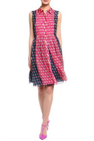 Платье DIANE VON FURSTENBERG. Цвет: темно-синий, розовый