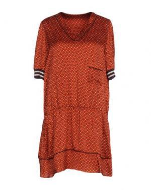 Короткое платье ...À_LA_FOIS.... Цвет: кирпично-красный