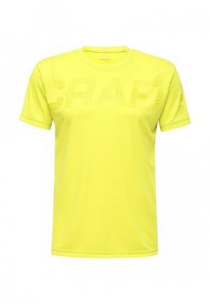 Футболка спортивная Craft. Цвет: желтый