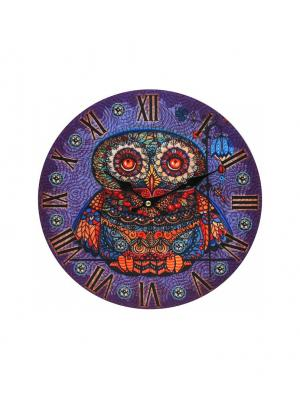 Часы настенные Волшебная сова, диаметр 34 см (001-CL) Белоснежка. Цвет: сиреневый