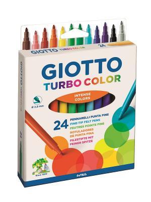 Giotto TURBO COLOR Фломастеры 24 цвета FILA. Цвет: желтый, белый, синий