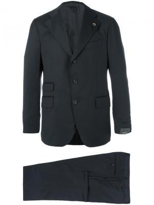 Классический костюм кроя слим Gabriele Pasini. Цвет: чёрный