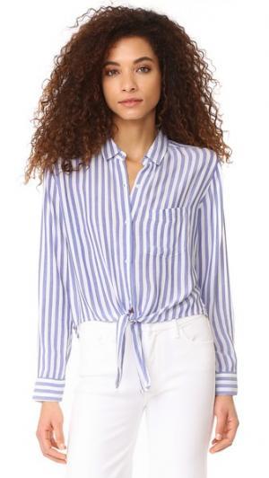 Рубашка на пуговицах Val в полоску RAILS. Цвет: синяя/белая полоска