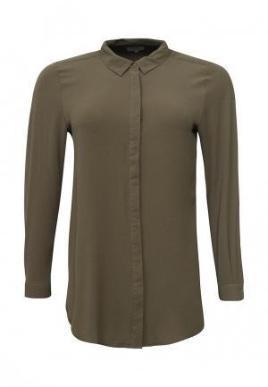 Рубашка Zizzi. Цвет: хаки
