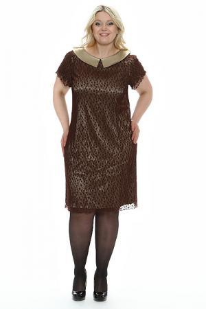 Платье Паутинка Зар-Стиль. Цвет: коричневый