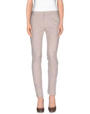 Повседневные брюки E-GÓ. Цвет: голубиный серый