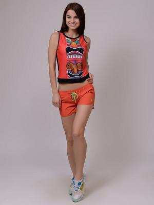 Бордшорты EMDI. Цвет: оранжевый