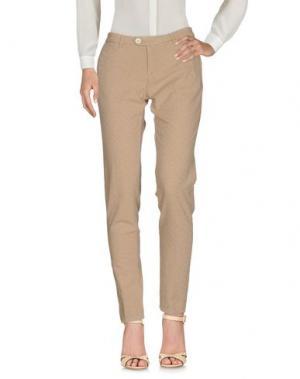 Повседневные брюки OAKS. Цвет: песочный