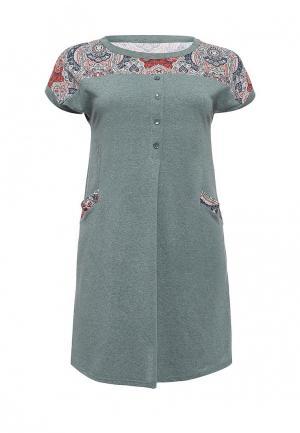 Платье домашнее Лори. Цвет: зеленый