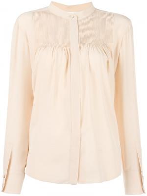 Плиссированная блузка Chloé. Цвет: розовый и фиолетовый