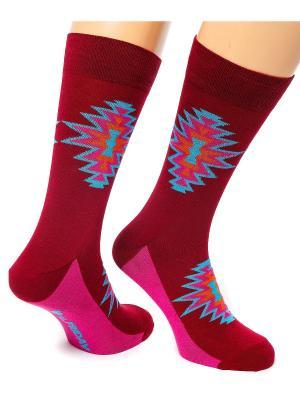 Дизайнерские Носки St.Friday Socks. Цвет: бордовый
