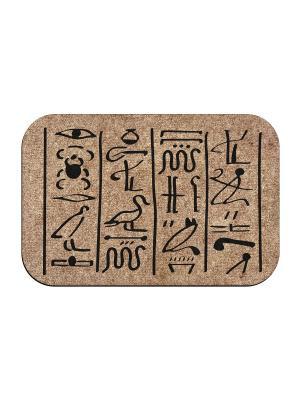Коврик придверный Египетская фреска MoiKovrik. Цвет: темно-бежевый