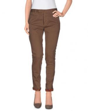 Повседневные брюки G2CHOICE. Цвет: светло-коричневый