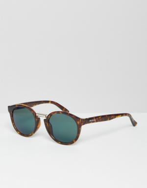 Mr Boho Солнцезащитные очки с зелеными стеклами Mr. Fitzroy. Цвет: коричневый