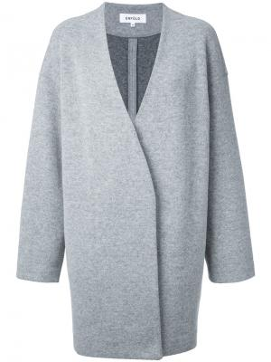 Пальто-футляр Enföld. Цвет: серый
