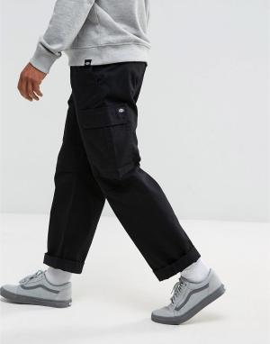 Dickies Черные брюки-карго Higden. Цвет: черный