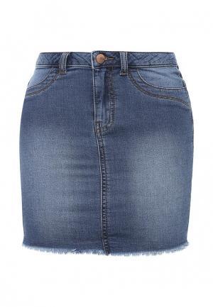 Юбка джинсовая Jacqueline de Yong. Цвет: синий