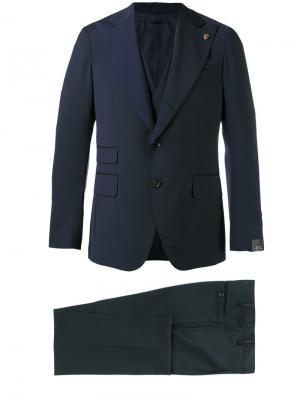 Wide lapel single-breasted suit Gabriele Pasini. Цвет: синий