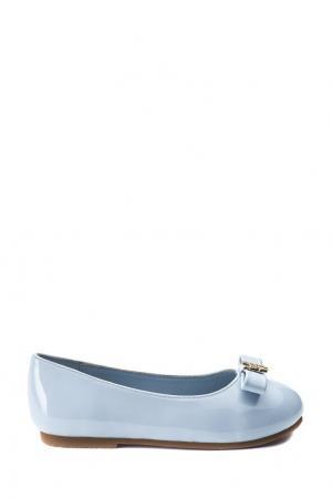 Голубые туфли с золотистой бабочкой Age of Innocence. Цвет: голубой