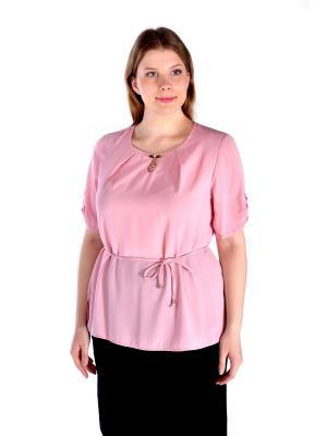 Блузка LikModa. Цвет: бледно-розовый