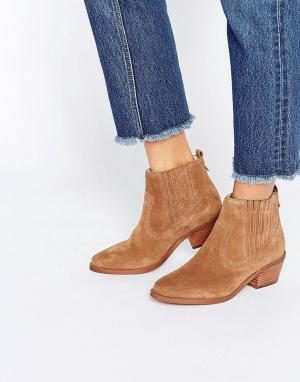 Dune Ботинки на низком каблуке Quiz. Цвет: рыжий
