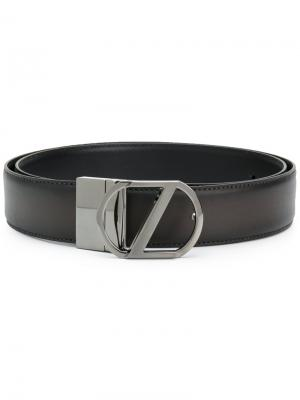 Ремень с пряжкой-логотипом Z Zegna. Цвет: чёрный