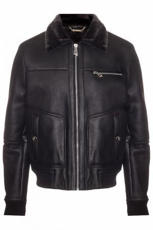 Дубленка Versace Collection. Цвет: черный