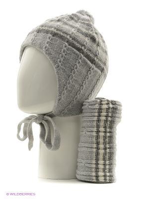 Шапка, шарф FOMAS. Цвет: светло-серый