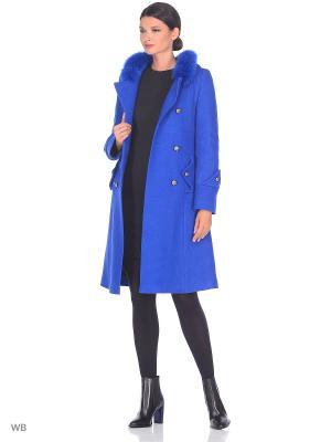 Пальто Fart Favorita. Цвет: синий