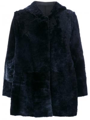 Куртка с капюшоном Drome. Цвет: синий