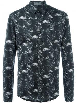 Рубашка с принтом Les Hommes Urban. Цвет: чёрный