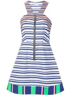 Платье А-образного кроя в полоску Tanya Taylor. Цвет: синий
