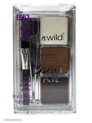 Набор для бровей ultimate brow kit, тон ash brown Wet n Wild. Цвет: светло-коричневый