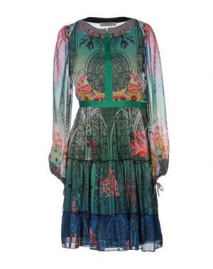 Платье до колена PICCIONE•PICCIONE. Цвет: зеленый