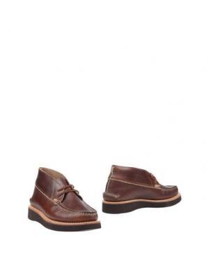 Полусапоги и высокие ботинки YUKETEN. Цвет: какао
