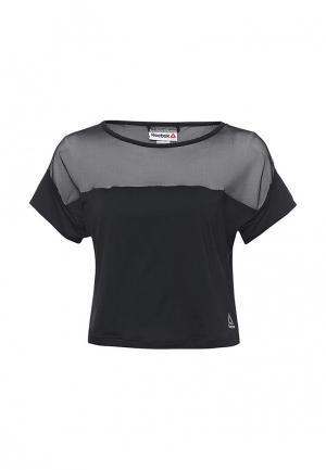 Футболка спортивная Reebok. Цвет: черный