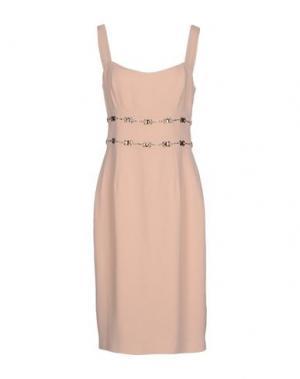 Платье до колена GIO' GUERRERI. Цвет: розовый