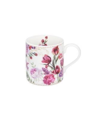Кружка - подарок Цветочное поле Elan Gallery. Цвет: розовый, белый, зеленый