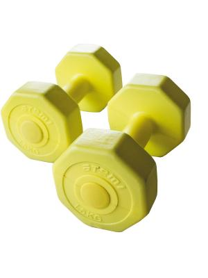 Гантели виниловые 1,5 кг х 2 шт Atemi, AD-02-3 Atemi. Цвет: желтый