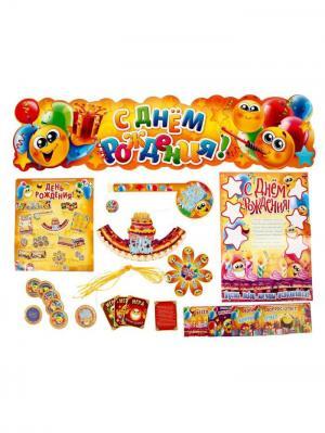 Набор для праздника А М Дизайн. Цвет: светло-оранжевый, горчичный, фуксия