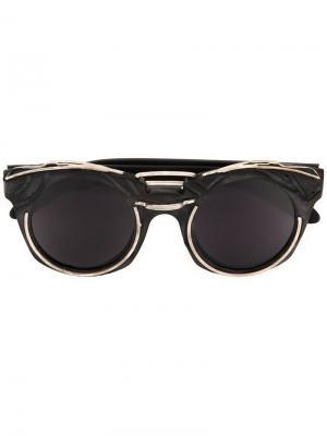 Солнцезащитные очки U6 Kuboraum. Цвет: чёрный