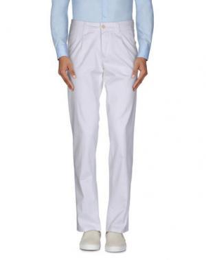 Повседневные брюки MARIO MATTEO. Цвет: белый