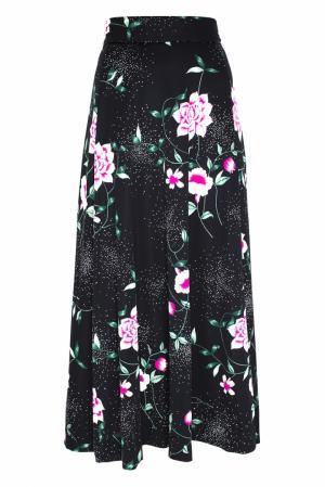 Юбка винтажная (70e) Hanae Mori Paris. Цвет: черный, розовый, зеленый